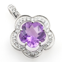 Amethyst and White Topaz...