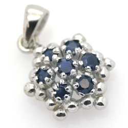 Sapphire and 925 Silver...