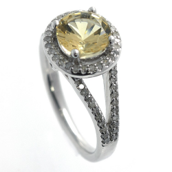 Citrine, Diamonds and 925...
