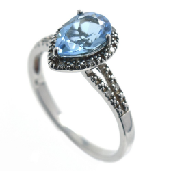 Ring Topaz, Diamonds, and...