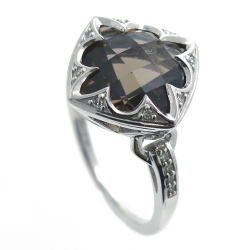 Smoky Quartz Ring, Diamonds...