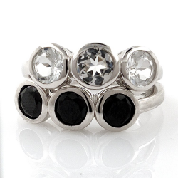 White topaz or black spinel...