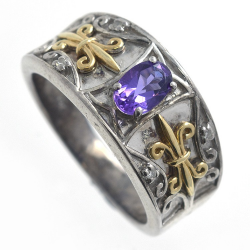 Amethyst, Diamonds and 925...