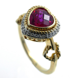 Ring Diamonds, Ruby and...
