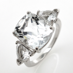 White topaz ring and 925...