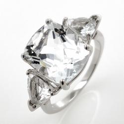 White topaz ring and 925...