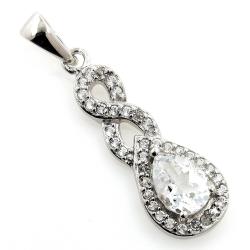 White topaz pendant and 925...