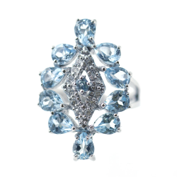 Blue topaz ring and 925 silver