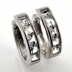 White topaz and 925 silver...