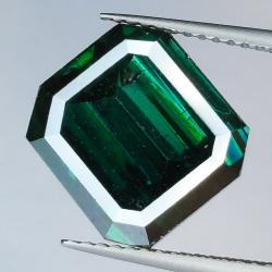 6.95ct Green Emerald Cut...