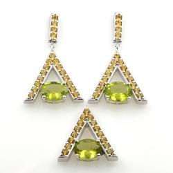 Yellow Sapphire and Peridot...