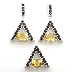 Sterling Silver Citrine and...