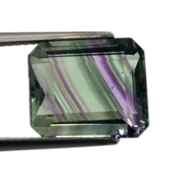 9,41ct. Fluorite Emerald Cut