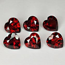 6.01ct Red Garnet heart cut...