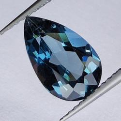 2.76ct Blue Topaz pear cut...
