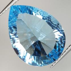 Blue topaz millenium pear...