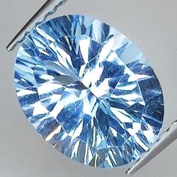 Blue topaz oval cut...