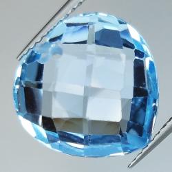 Blue topaz cut heart...