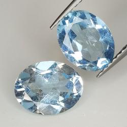 Blue topaz oval cut 9x7mm 4pz