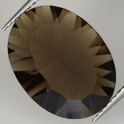 Smoky quartz oval cut...