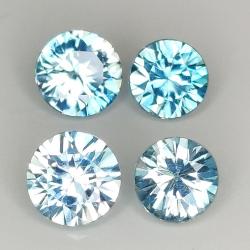 Round cut blue zircon...