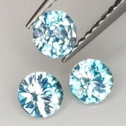 Blue zircon round cut...