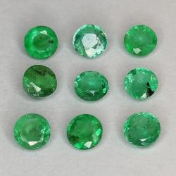 Round cut emerald 2.9-3.8mm...