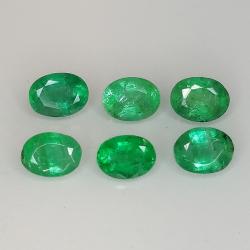 Oval cut emerald 4x3mm 1pz