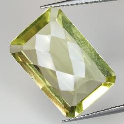 Emerald cut lemon quartz...
