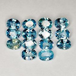 7.38ct Blue Zircon oval cut...