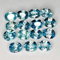 8.75ct Blue Zircon oval cut...