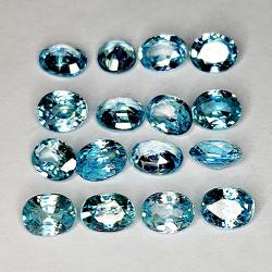 9.56ct Blue Zircon oval cut...