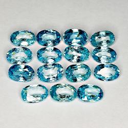 10.19ct Blue Zircon oval...