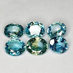 7.99ct Blue Zircon oval cut...
