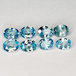 3.62ct Blue Zircon oval cut...