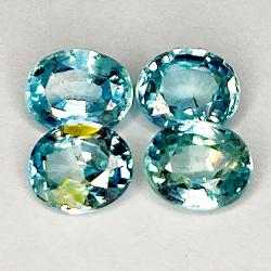 3.71ct Blue Zircon oval cut...