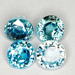 4.06ct Blue Zircon oval cut...