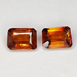 2.53ct Pair Orange Zircon...