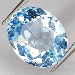 6.59ct Blue Topaz oval cut...