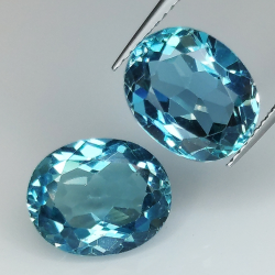 London blue topaz oval cut...