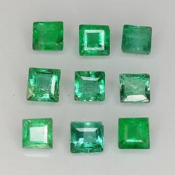 Princess cut emerald...