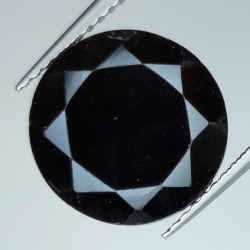 Black spinel round cut 12mm...