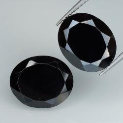 Black spinel oval cut...