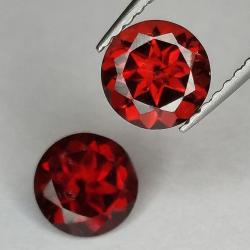 Garnet round cut 6 mm 1pz