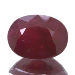 1,60ct Ruby Oval Cut