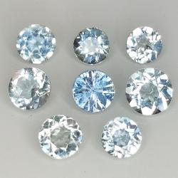 Round cut aquamarine...