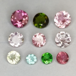 Multicolor tourmaline round...