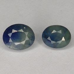 2.32ct Pair Blue Sapphire...