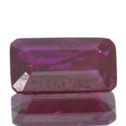 1,04ct Ruby Emerald Cut