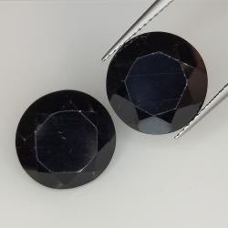 18.14ct Black spinel round...